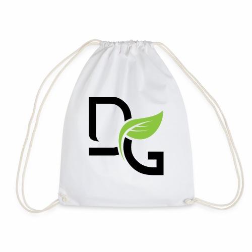 DrGreen Logo Symbol schwarz grün - Turnbeutel