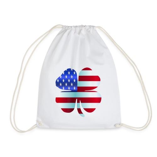 Irish American shamrockSt Patrick's Day Design - Drawstring Bag