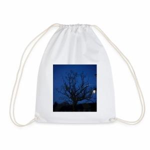 tree night sky - Drawstring Bag