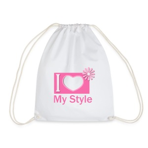 i love my style pink - Drawstring Bag
