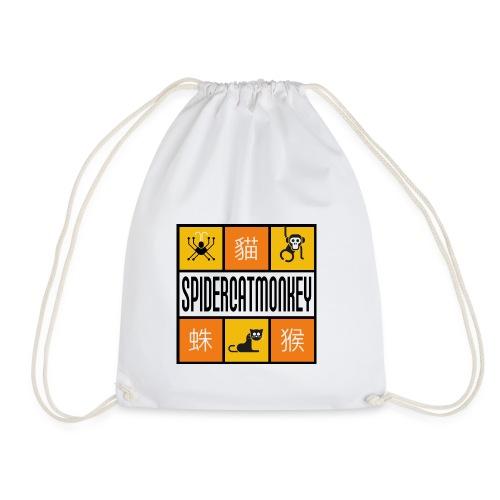 Band-Logo SPIDERCATMONKEY, orange - Turnbeutel