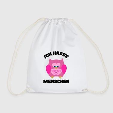 Ich hasse Menschen Eule Fun Shirt Hoodie Geschenk - Turnbeutel