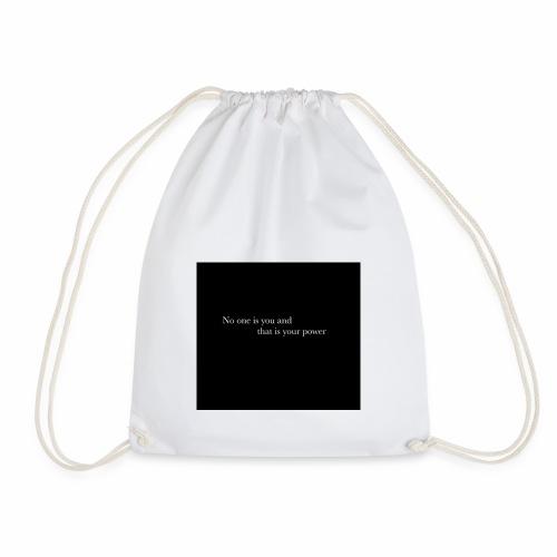 inspirational quote - Drawstring Bag