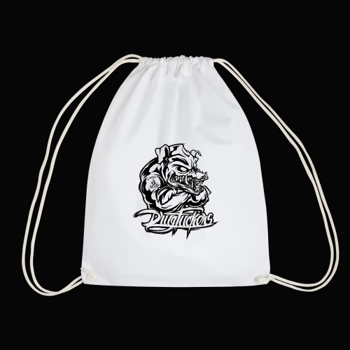Drug_Fuckers_Logo _-_ Composition_01-_black - Drawstring Bag