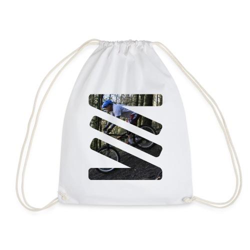 biker logo - Drawstring Bag