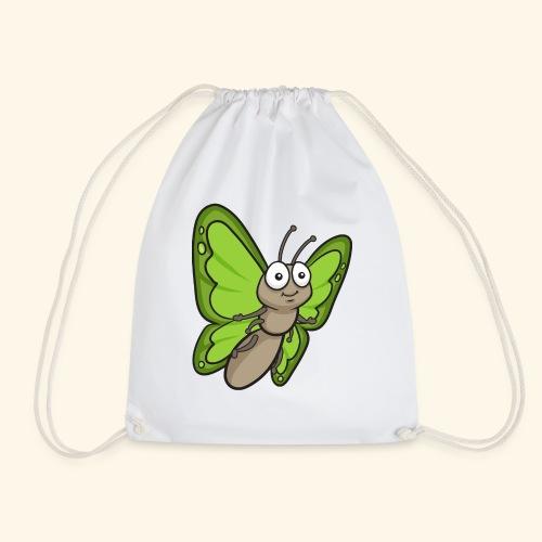 Butterfly Cartoon - Drawstring Bag