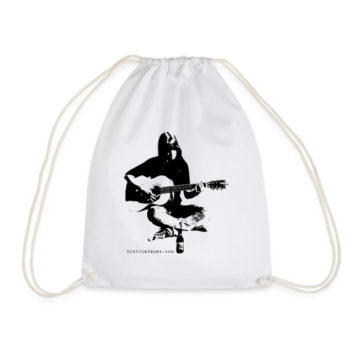 Cynthia Janes guitar BLACK - Drawstring Bag