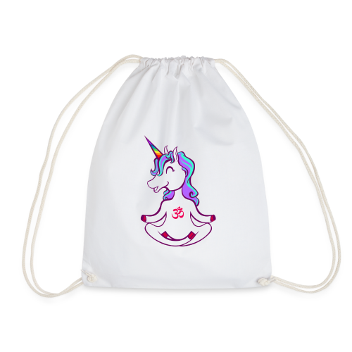 Unicorn meditation - Drawstring Bag