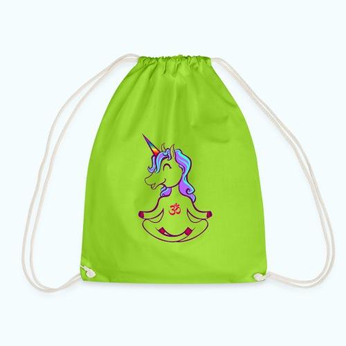 Unicorn meditation - Drawstring Bag