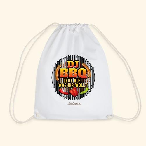 Grill T Shirt lustiger Spruch DJ BBQ - Turnbeutel