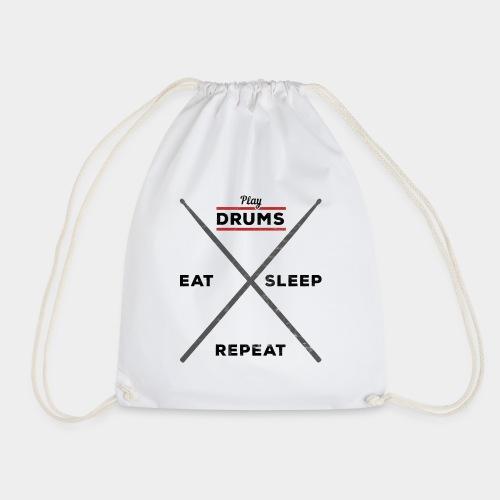 Play Drums Eat Sleep Repeat - Turnbeutel