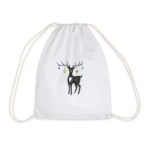 Christmas reindeer - Drawstring Bag