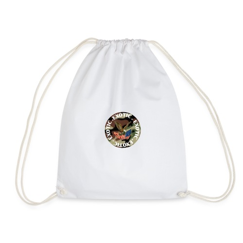 EXOTIC logo and circle - Drawstring Bag