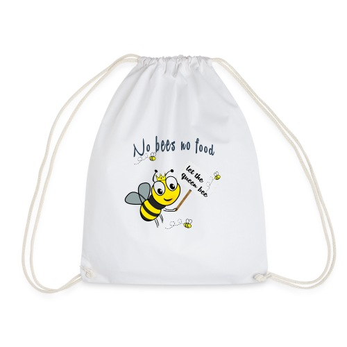 Save the bees with this cute design! Red de bij - Gymtas