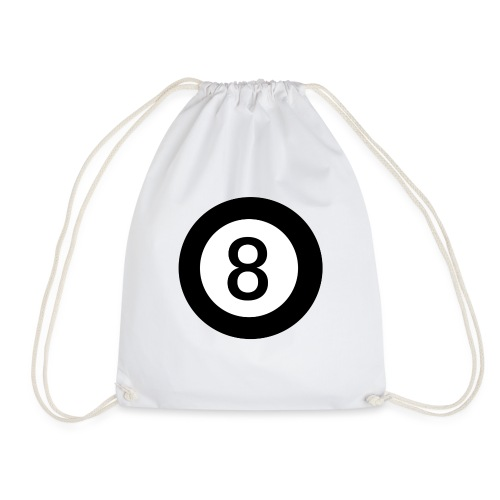 Black 8 - Drawstring Bag