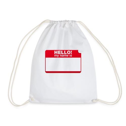 Hello! my name is by Punktzebra brands - Turnbeutel