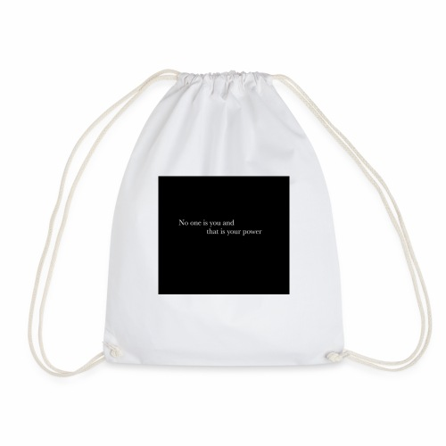inspirational quote - Drawstring Bag