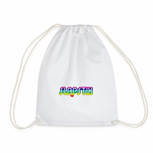 slapstix logo - Drawstring Bag