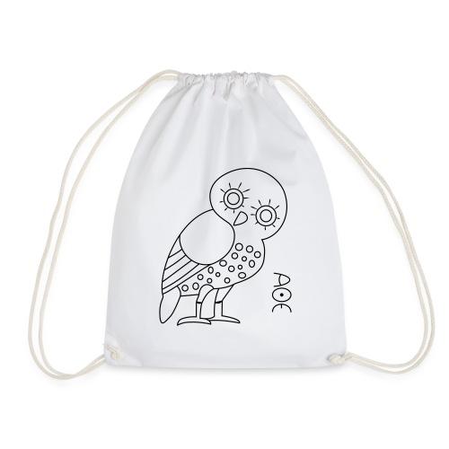 Owl of Athena - Drawstring Bag