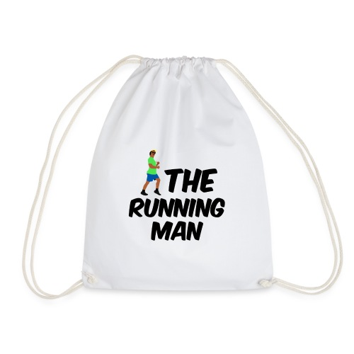 The Running Man Light Blue Short - Drawstring Bag
