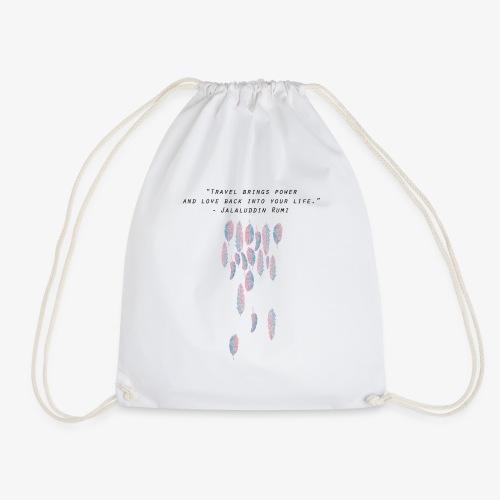 Travel quotes 5 - Drawstring Bag
