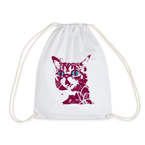chat violet - Sac de sport léger