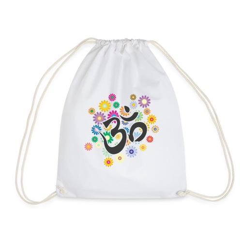 Om Aum Mantra Symbol Flowers - Turnbeutel
