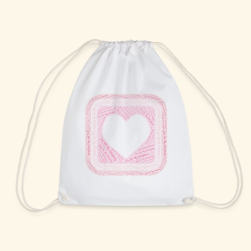 You are my everything with love - Drawstring Bag