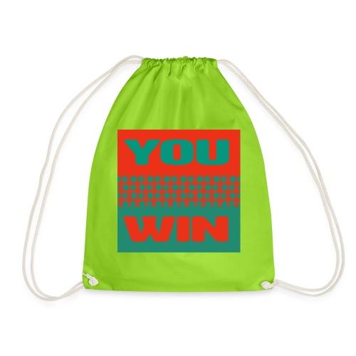 you win 5 - Drawstring Bag