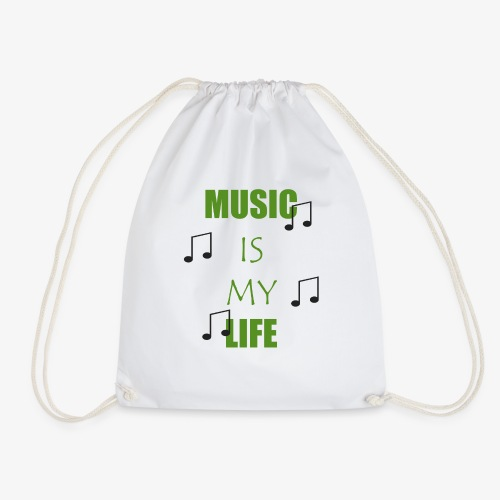 Music is my Life - Grün - Turnbeutel