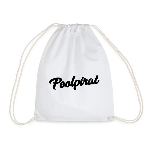 Poolpirat Black-Logo - Turnbeutel