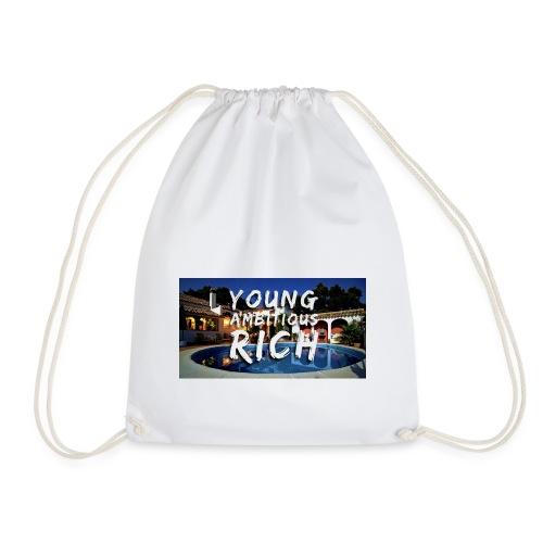 YOUNG, AMBITIOUS, YOUNG - Drawstring Bag