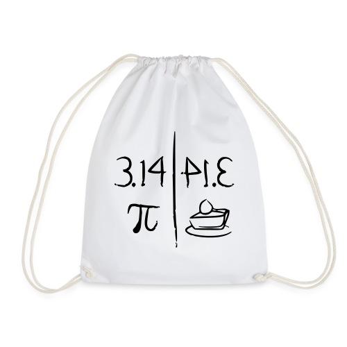 pi vs pie - Drawstring Bag