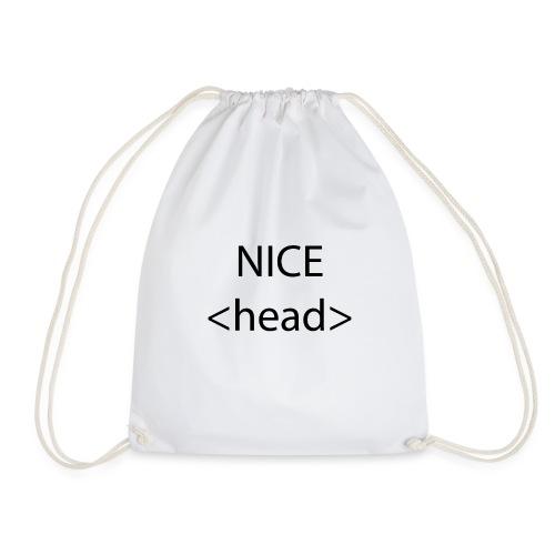Nice Head Programmierer Code Spruch Geschenk - Turnbeutel