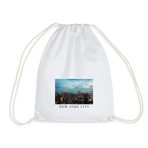 NEW YORK CITY, new york, new york photo, big city - Drawstring Bag