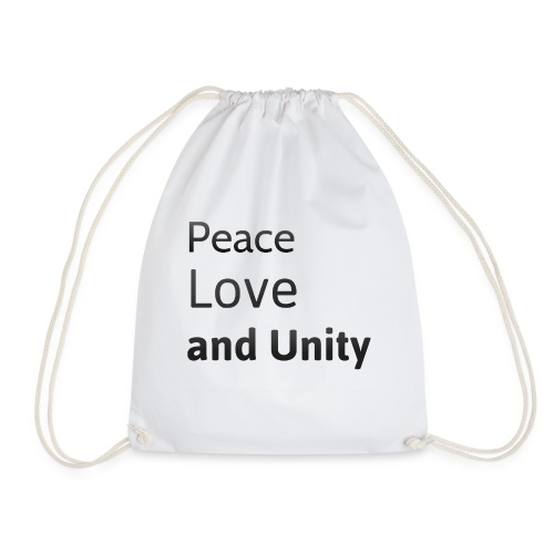 Peace love and unity - Drawstring Bag