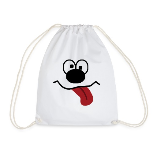 Funny Cartoon Face dunk tongue sticking out - Drawstring Bag