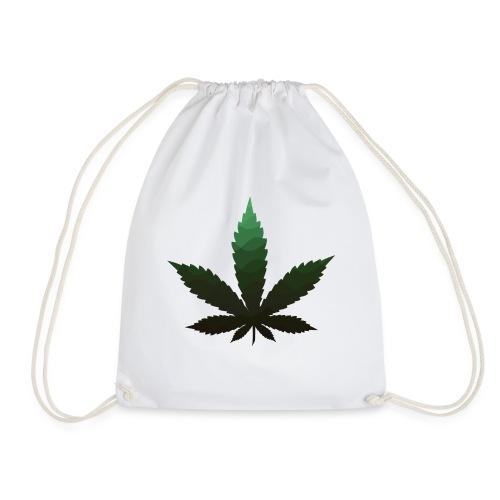 green marijuana leaf - Turnbeutel