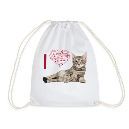 I LOVE CATS - Mochila saco