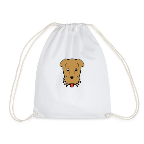 Shari the Airedale Terrier - Drawstring Bag