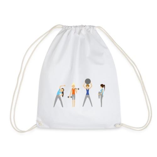 Fitmamuśka - Plecak Czarny - Worek gimnastyczny