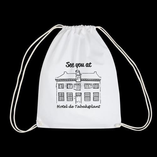 See you at Hotel de Tabaksplant BLACK - Drawstring Bag