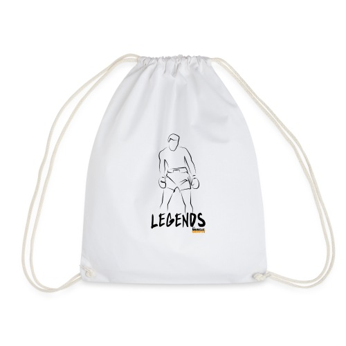 Muscle Growth Expert (LEGENDS) - Water Bottle (wt) - Drawstring Bag