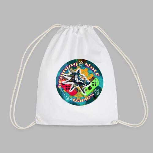 Grinning Wolf Games 21 Round logo - Drawstring Bag