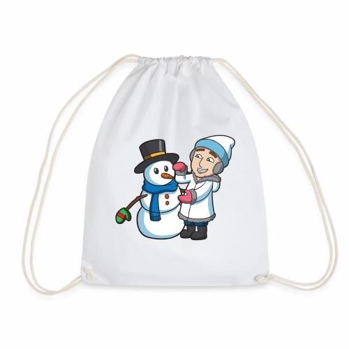 Snowman - Drawstring Bag