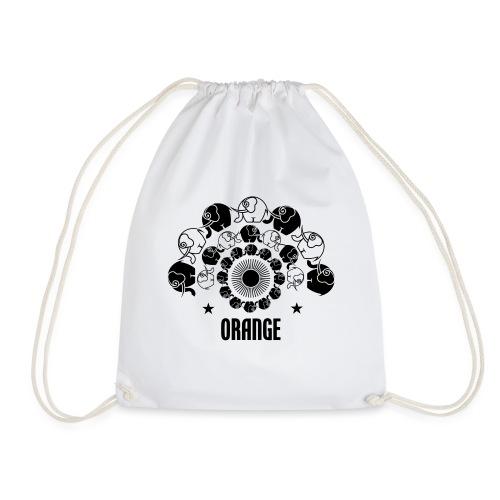 Orangevibes Logo schwarz - Turnbeutel