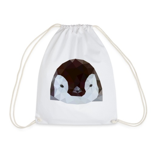 Pinguin Baby Polygon Art - Turnbeutel