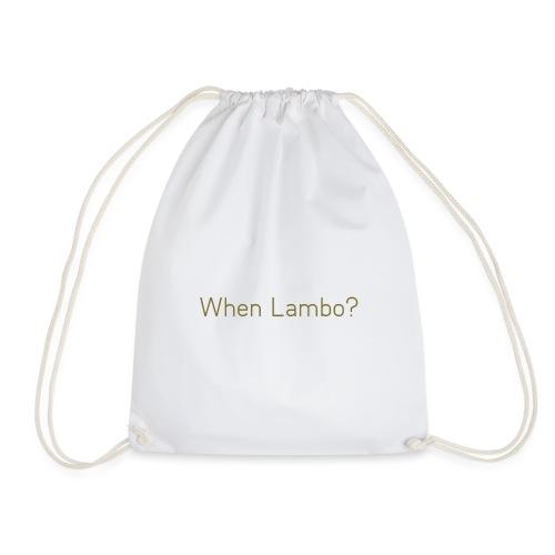 When Lambo? Design - Gymtas