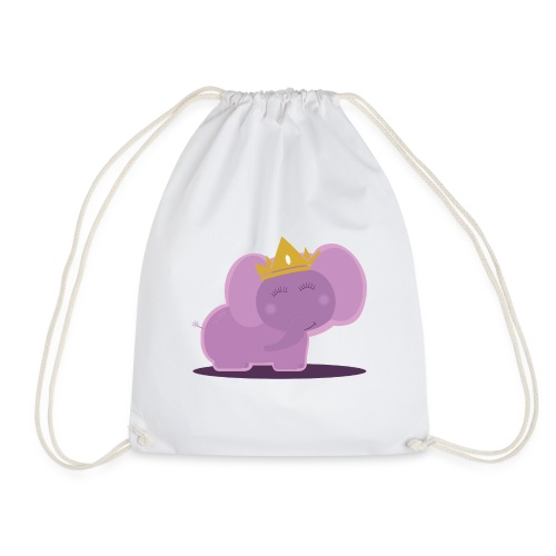 Elephant princess - Drawstring Bag