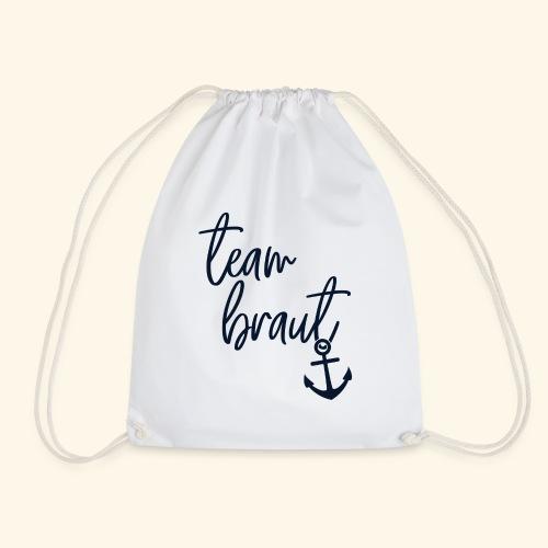 Stilvolle JGA Shirts | Team Braut - Turnbeutel